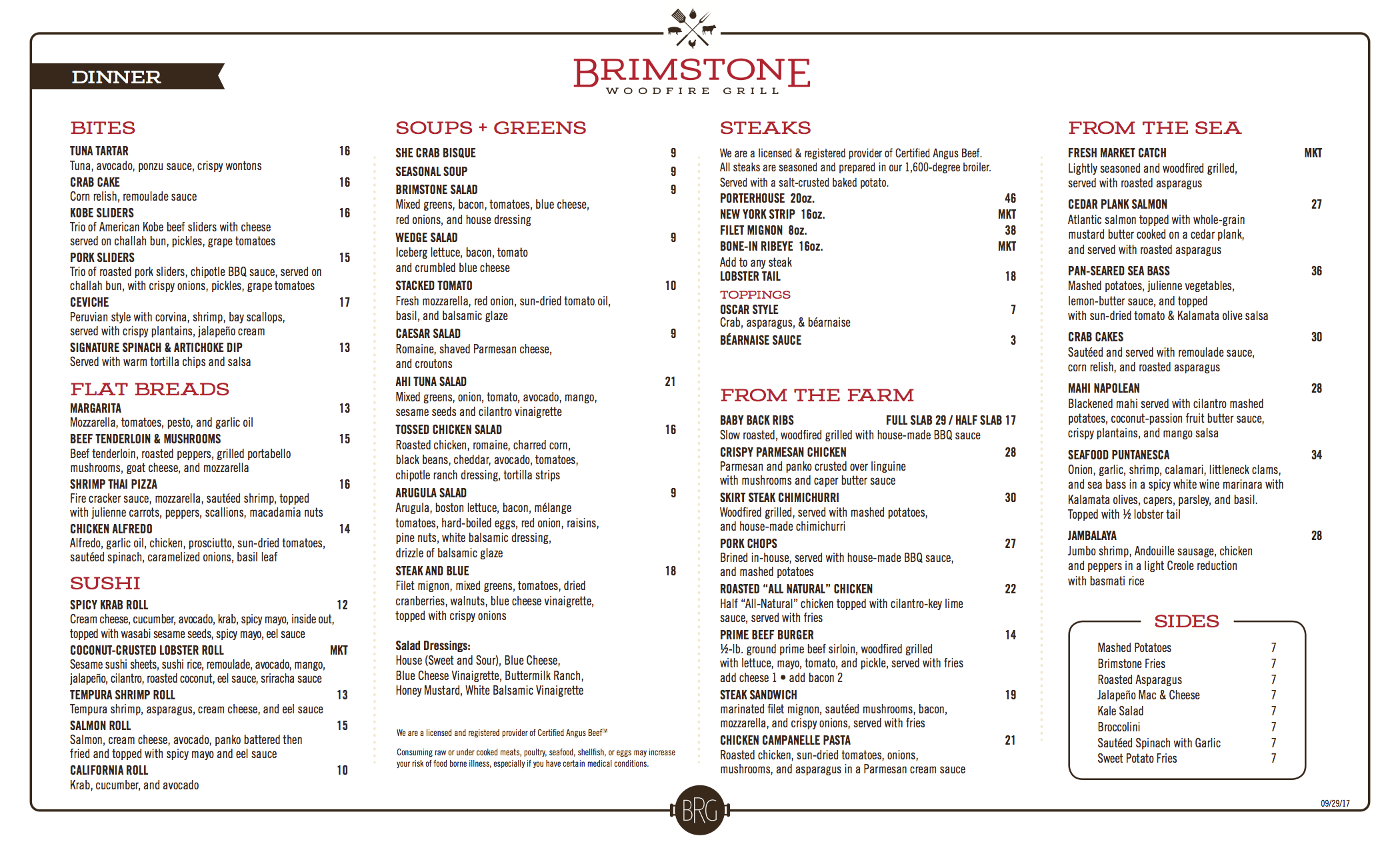 Brimstone Woodfire Grill – Pembroke Pines, Florida – Steaks, seafood ...
